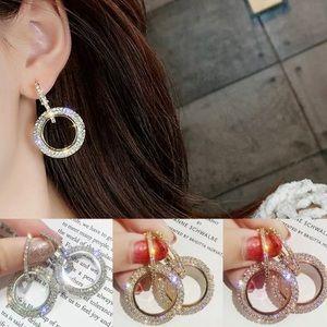 Jewelry - Crystal Hoop Earrings w/ a Crystal Clasp!! (NWT)